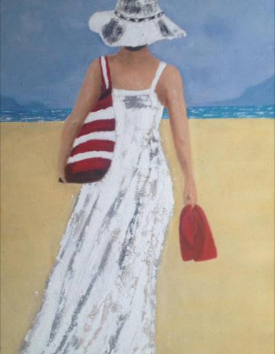vrouw-strand